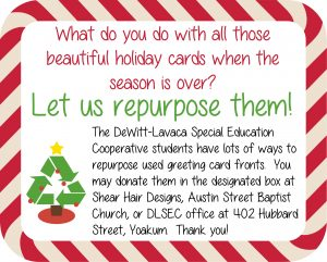 Donate your holiday cards, click the image to follow the link.