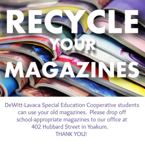 Recycle your Magazines to the DLSEC, click the image to follow the link.